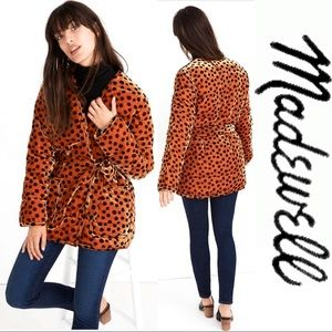 Just In NWT Madewell Soft Wrap Jacket Leopard Dot